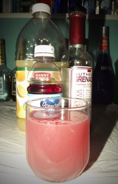 ruby red herring mocktail