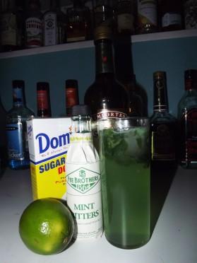 Green Whiskey Mojito